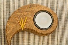 Acupuncture needles Stock Photo