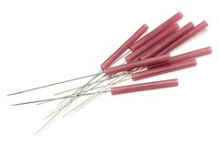 Acupuncture needles Stock Images