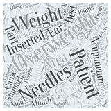 Acupuncture and Weight Loss word cloud concept  background Stock Photography