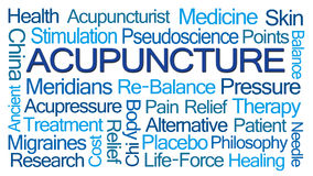 Acupuncture Word Cloud Stock Image