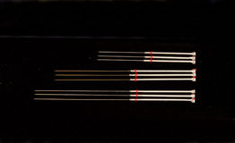 Acupunctuur needels Stock Afbeelding