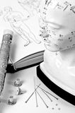 Acupunctuurnaalden royalty-vrije stock foto's