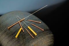 Acupunctuurnaalden royalty-vrije stock afbeeldingen