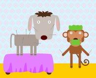Acupuntura animal ilustración del vector