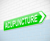 Acupunture concept. Royalty Free Stock Photo