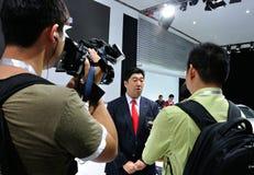 Acura执行委员采访 免版税库存照片
