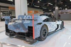 Acura ARX-05 DPI racerbil på skärm Arkivbilder