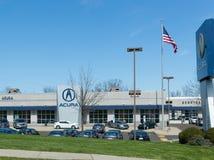 Acura-Automobil-Verkaufsstelle-Zeichen und Logo Lizenzfreie Stockbilder