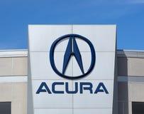 Acura-Automobil-Verkaufsstelle-Zeichen und Logo Stockfotografie