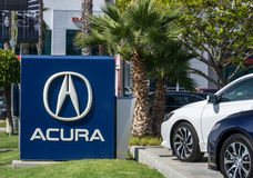 Acura Automobile Dealership Sign and Logo Royalty Free Stock Images