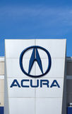 Acura Automobile Dealership Sign and Logo Stock Images