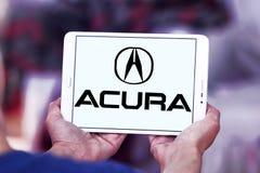 Acura car logo. Logo of acura car brand on samsung tablet royalty free stock photo