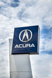 Acura dealership sign Stock Photo