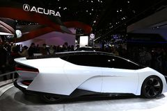 Acura electric car at the auto show Royalty Free Stock Images