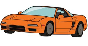 Acura/Honda NSX-T Royaltyfri Illustrationer