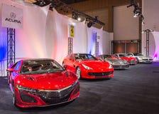 Acura NSX, Ferrari und Audi, NAIAS Lizenzfreies Stockfoto