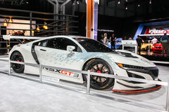 Acura NSX GT 3 gezeigt an der internationalen Automobilausstellung 201 New York Lizenzfreies Stockfoto