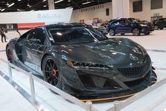 Acura NSX GT3 på skärm royaltyfria bilder