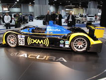 Acura Racing Car at the Auto Show Royalty Free Stock Image