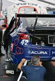 Acura-Rennmechaniker Stockfotografie