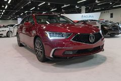 Acura RLX auf Anzeige Stockbild