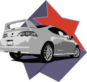 Acura RSX Illustration royalty free stock images