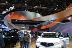 Acura sur l'affichage au salon de l'Auto 2017 international nord-américain Photo stock