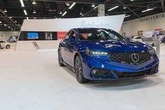 Acura Telex auf Anzeige Stockbild