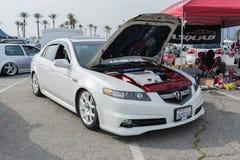 Acura TL på skärm Arkivbild