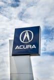 Acura-Verkaufsstellezeichen Stockfoto