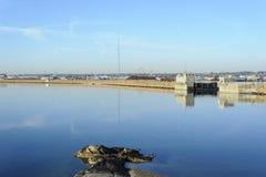 Acushnet-Fluss-Hurrikansperre Lizenzfreie Stockfotografie