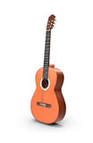 Acustic guitar. On white background Royalty Free Stock Photos