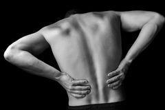 Acute backache stock images