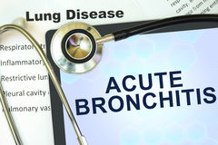 Acute bronchitis Royalty Free Stock Image