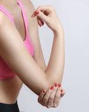 Acute elbow pain Royalty Free Stock Images