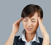 Acute headache Royalty Free Stock Image