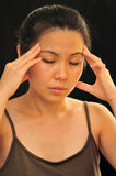 Acute Migraine. Migraine or severe head pain Stock Images