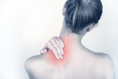 Acute neck pain Stock Image