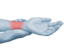Acute Pain In A Woman Wrist Royalty Free Stock Photos