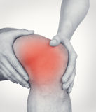 Acute pain in knee Stock Photo