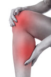 Acute pain in knee Royalty Free Stock Photos