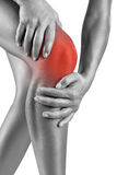 Acute pain in knee Stock Image