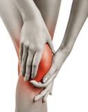 Acute pain in knee Royalty Free Stock Image