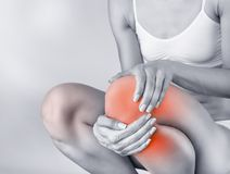 Acute pain in knee Royalty Free Stock Photography