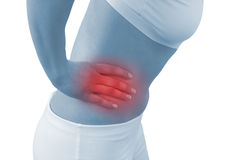 Acute pain in a woman kidney Royalty Free Stock Photography