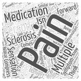 Acute pain word cloud concept background. Text Stock Illustration