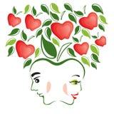 Adán y Eva ilustración del vector