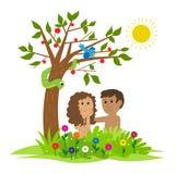Adán y Eva Fotografía de archivo libre de regalías