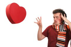 Ad amore o non amare? Fotografia Stock