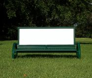 Ad Bench. Park and Bus Stop Bench used for advertising stock photos